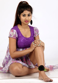 Swapna Spicy in Purple Dress