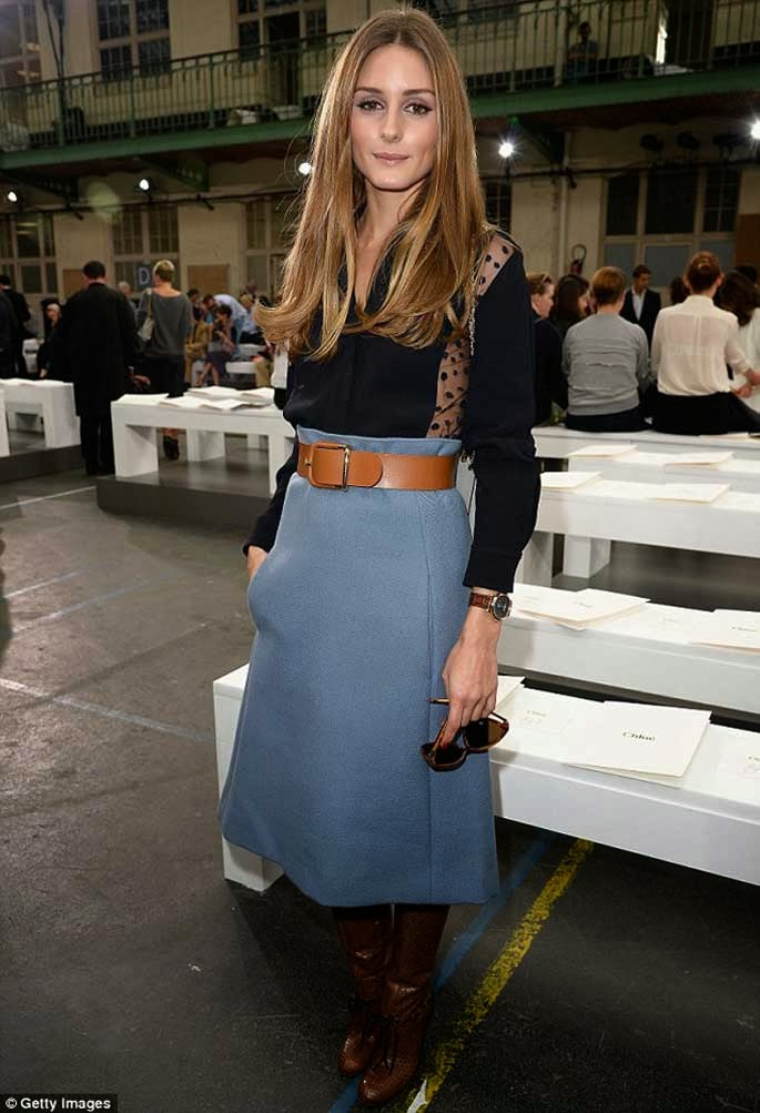 Olivia Palermo attending Chloe show at Paris Fashion Week September 2013