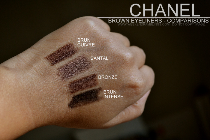 Printemps Precieux de Chanel Stylo Yeux Waterproof Longlasting Brown Eyeliner Pencil Santal Spring 2013 Makeup Collection Indian Beauty Blog Reviews Swatches FOTD EOTD Comparisons