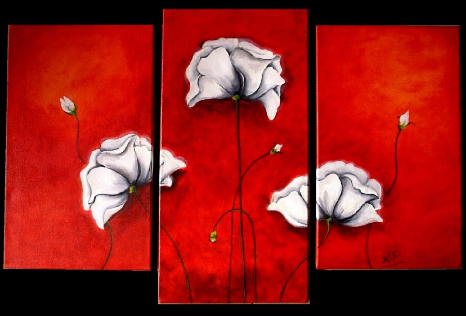 Cuadros modernos pinturas y dibujos flores pinturas al for Cuadros modernos para sala y comedor