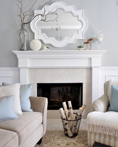 Belle maison accessories 101 decorating the fireplace mantel for How to decorate living room with fireplace