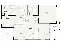 plano de casa con garage para 2 autos