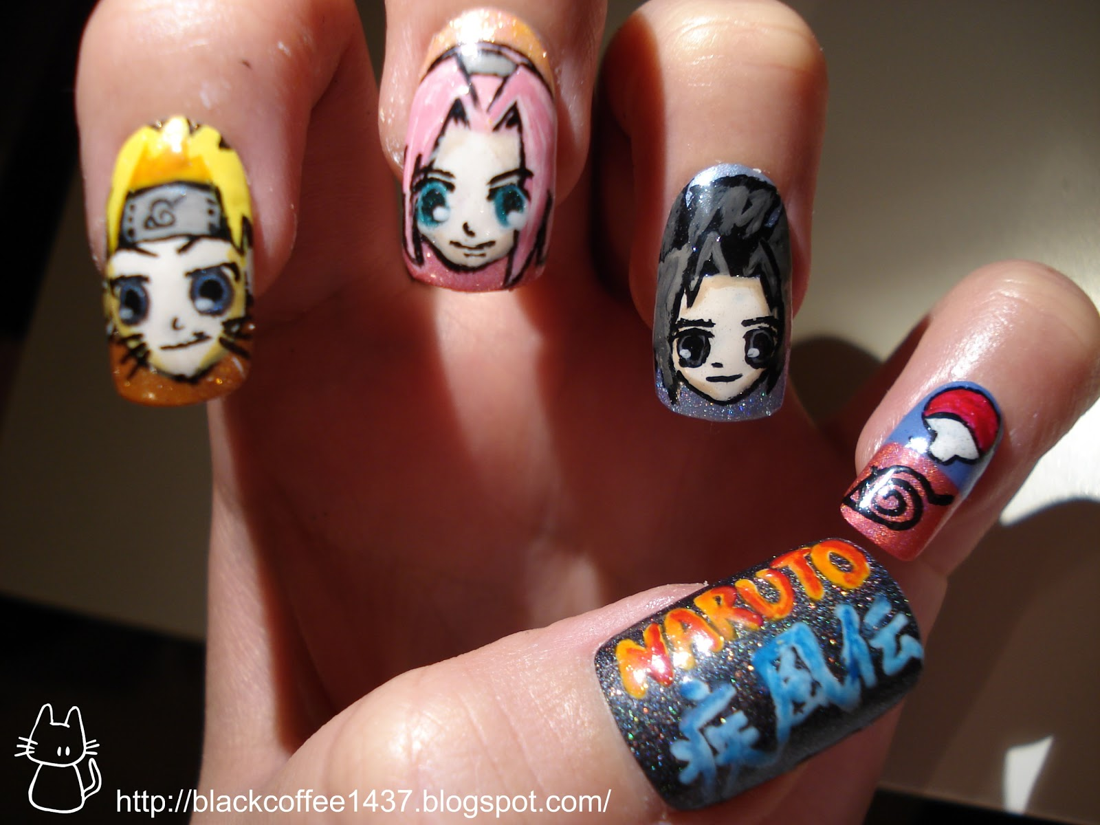 Silence is Loud: Naruto nail art