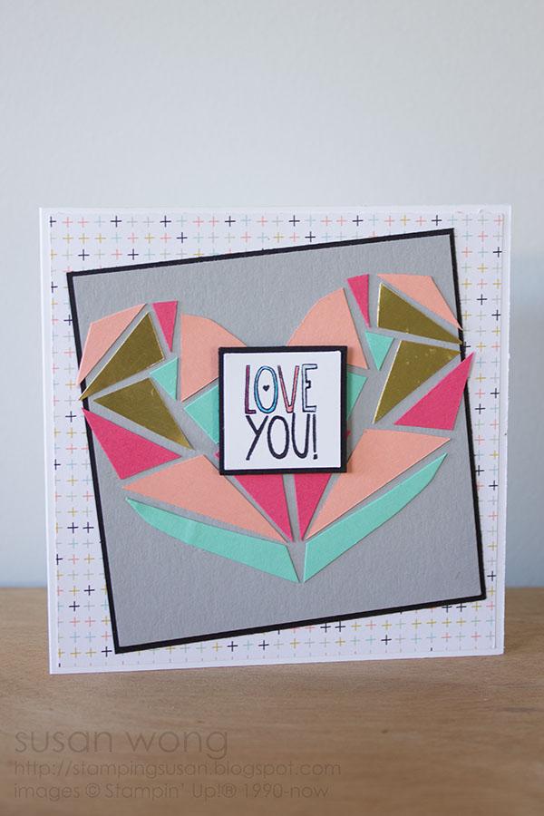 Susan Wong. Mosaic Heart Card.