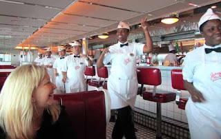 Johnny Rockets on Royal Caribbean Cruise Ship