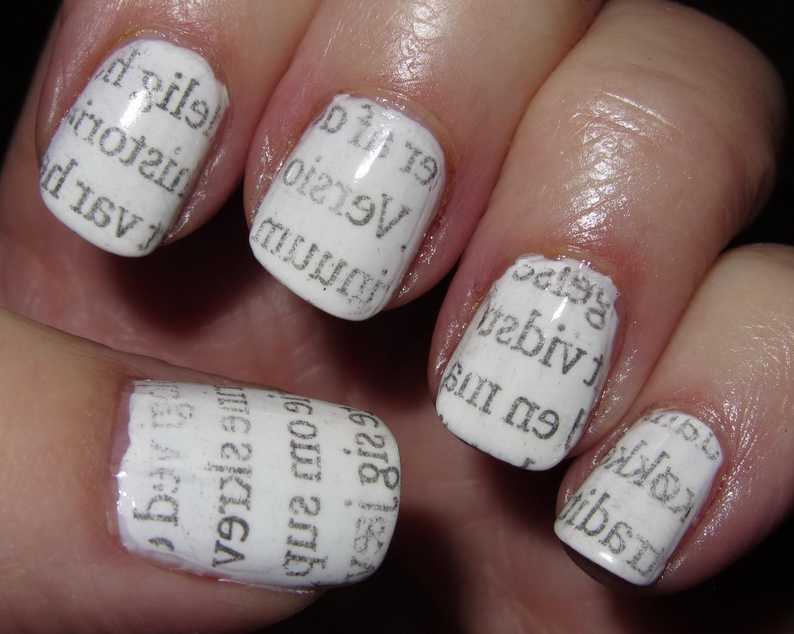 Marias Nail Art and Polish Blog: Newspaper nails – avis ...