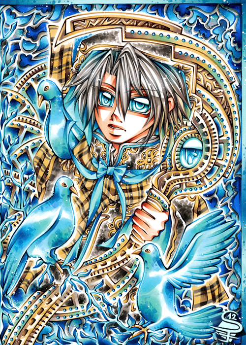 01-Blue-Hope-Sandra-Filipova-DarkSena-Manga-Black-and-White-and-Colour-Detailed-Drawings-www-designstack-co
