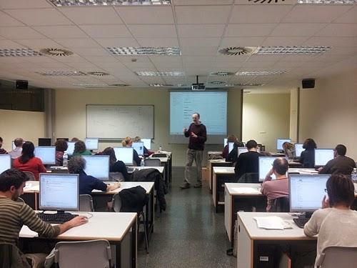 Taller sobre Wikipedia en Valencia 2013