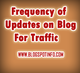 How imporant is the frequency of updates on blog.