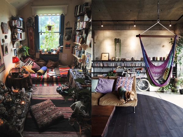Inspira o decora o hippie geisa tamires for Casas hippies