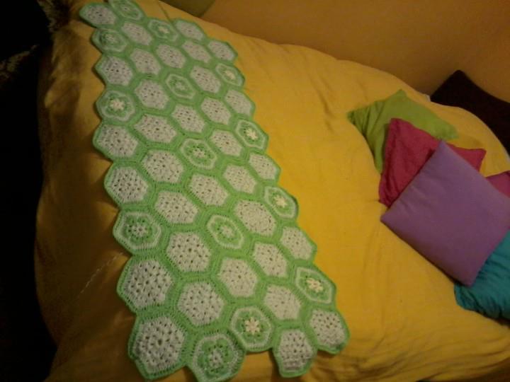 Creart 2 kenna pie de cama crochet hexagono - Pie de cama ...
