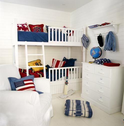 50 Ideias de quartos com beliche » Gemelares ~ Quarto Pequeno Triliche