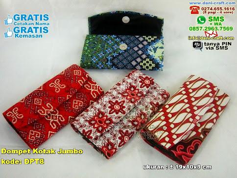 Dompet Kotak Jumbo Karton Kain Batik