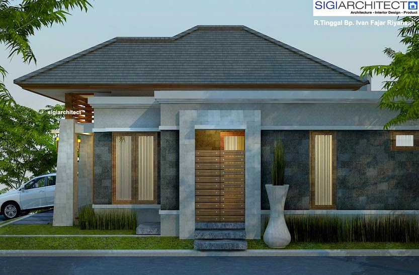 desain rumah minimalis 1 lantai type 54 gambar foto