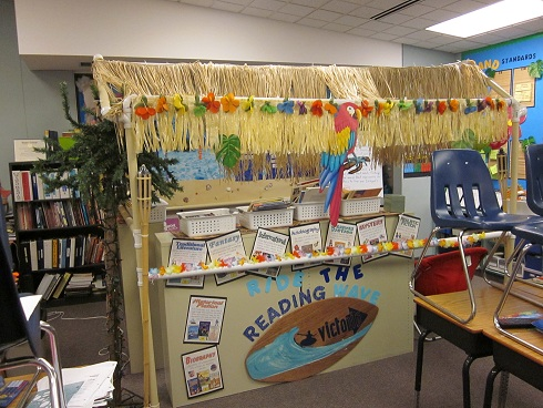 Beach ocean themed classroom clutter free classroom for Beach hut decoration items