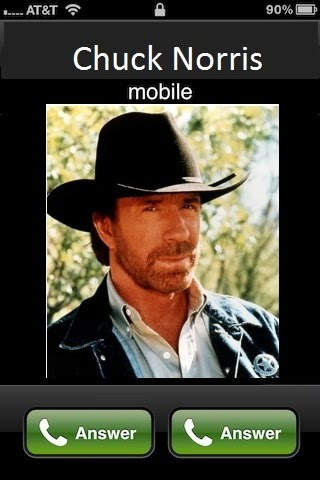 When Chuck Norris Is Calling You On The Phone