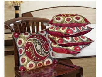 Shopclues: Buy Designer Weaving Cushion Covers Set of 5 (16×16 Inch) at Rs. 129