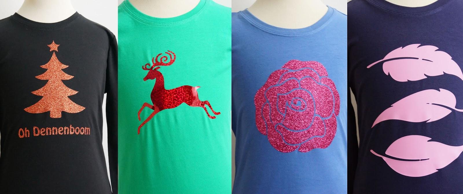 kerst glitter shirt