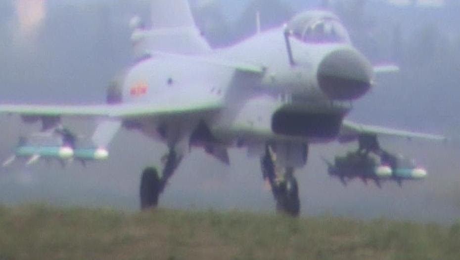 PLAAF's J-10 Vigorous Dragon with 4 PL-12 BVRAAMs ...