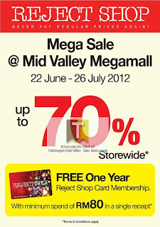 Reject Shop Mega Sale MidValley 2012