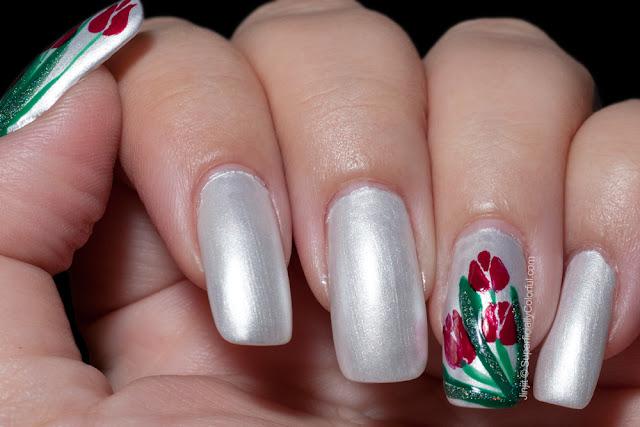 The Nail Junkie Spring Pastel Gardenia