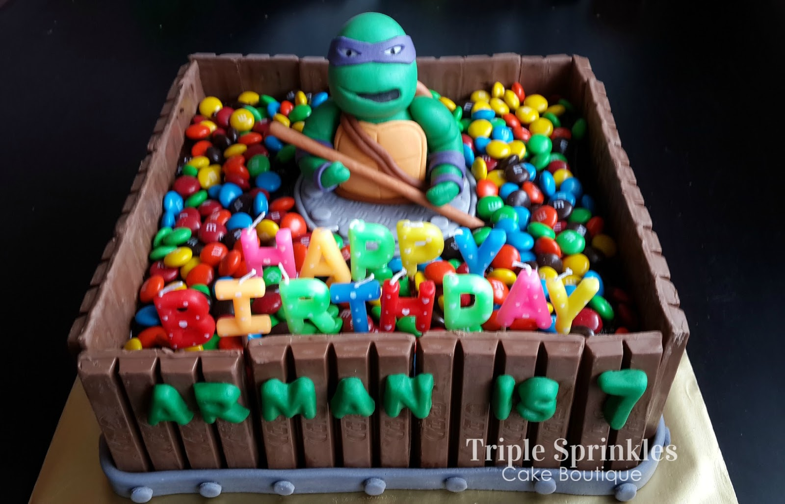 birthday cake that i made for my 2nd son arman chocolate cake with ...