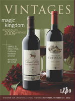 Cover photo of October 27, 2012 LCBO Vintages Wine Magazine