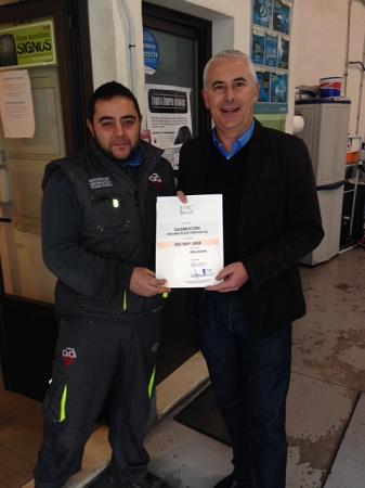 Neumáticos Toni Gaya, colaborador de Gasmocion también recibe la ISO 9001 de calidad