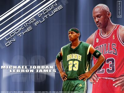 lebron james pictures. Jordan and LeBron James