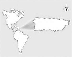 Mapa para pintar de Puerto Rico en América