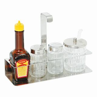 Set de Condimente si Sosuri, Servire la Masa, Solnite Sare, Piper, Mustar, Sos Soia, Preturi, Accesorii Horeca