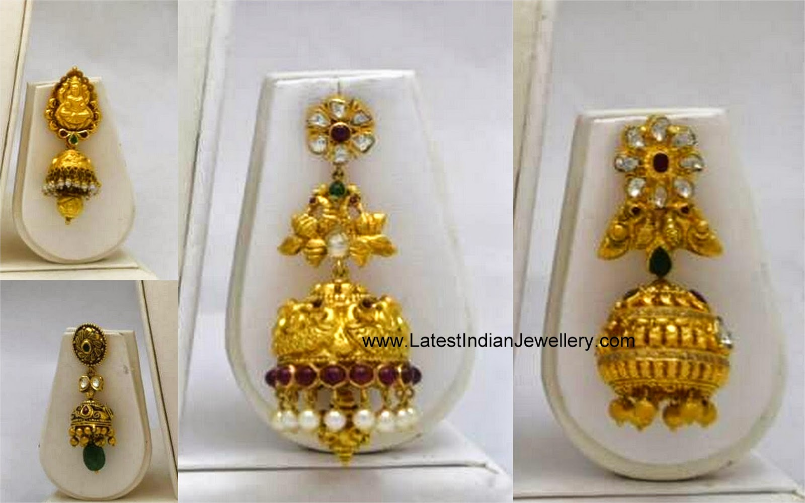 Heavy Gold Jhumka Design Collection