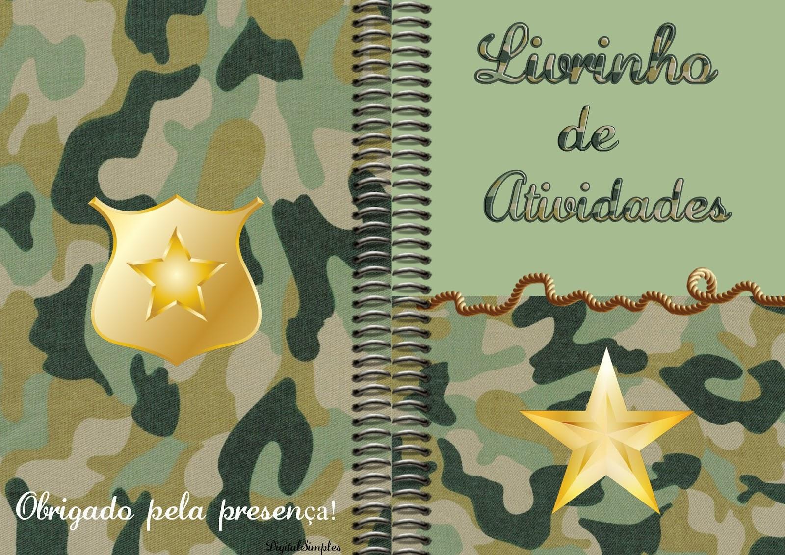 Livrinho para Colorir Camuflado Exército