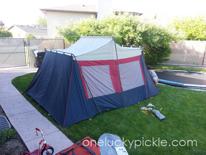 Sleeping In Tent In Backyard : tent was busted so we defaulted to the tent mansion