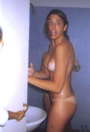 Embarrassed Naked Women Bathroom