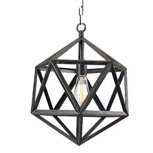 Overstock Multangular Iron 1-light Antique Bronze Chandelier