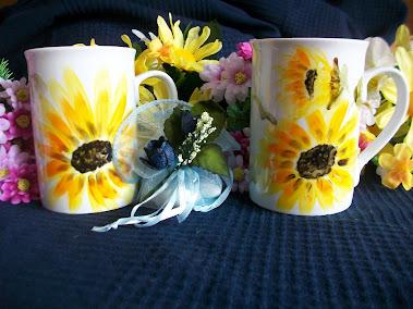 Bomboniera: idea regalo tazze girasoli 10€