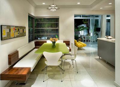 Desain Ruang Makan Dengan Bangku 2