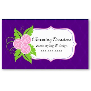 Business Card Showcase By Socialite Designs Elegant Floral Event Planner Business Cards