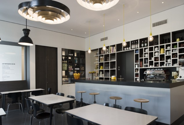 Industrial Le kaper design restaurant hospitality design inspiration le bal café