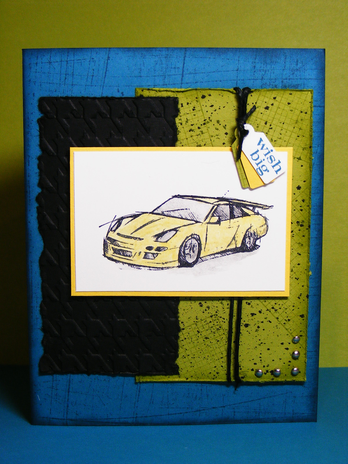 Masculine Birthday Card For PPA105 Using The Need Speed Stamp Set And Sentiment From Pennant Parade