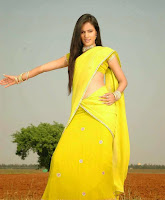 Sonal Chauhan Beautiful Pics in Yellow Saree Dance Stills
