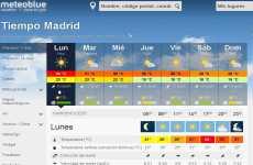 Meteoblue en español: información meteorológica mundial online