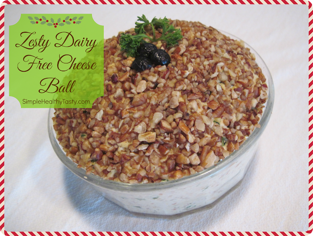 Zesty Dairy Free Cheese Ball