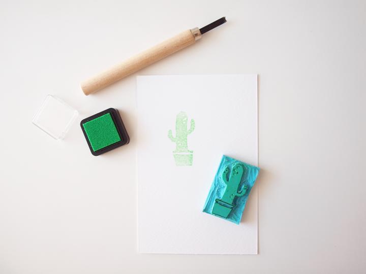 gouge pour gravure de tampons cactus