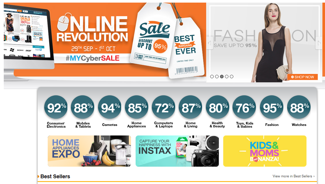 MYCyberSALE 2014 Jom Shopping Online Diskaun Sehingga 95 di Lazada Malaysia