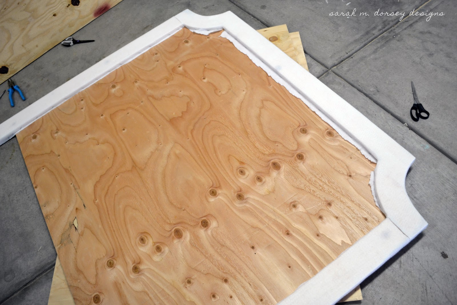 how to make a king size headboard out of plywood