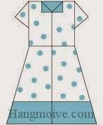 Bước 14: Hoàn thành cách xếp cái váy cho teen bằng giấy theo phong cách origami.