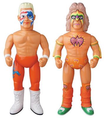 WWE Sting & The Ultimate Warrior Sofubi Vinyl Figures by Medicom