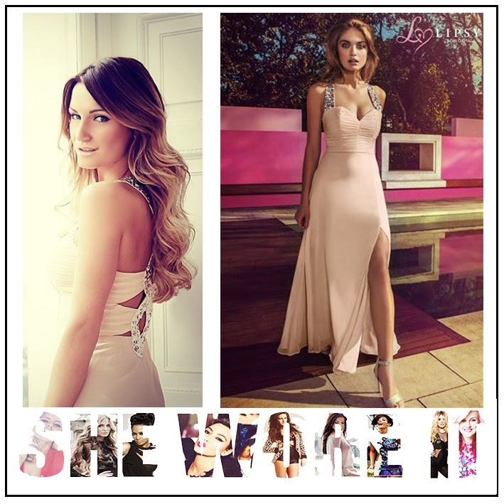 Embellished Straps, Lipsy, Maxi Dress, Nude, Pink, Ruching Detail, Sam Faiers, Silver Sequin, Sleeveless, Sweetheart Neckline, The Only Way Is Essex, Thigh High Split, TOWIE,